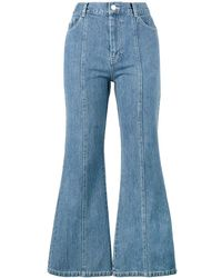 Sandy Liang Tinder Flared Jeans - Blue