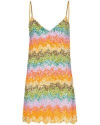 fbdf2e6481c4a Ashish - Rainbow Sequin Embellished Slip Dress - Lyst