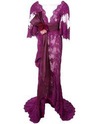 Marchesa - Abendkleid mit Spitze - Lyst
