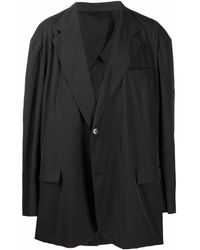 Raf Simons オーバーサイズ シングルジャケット - ブラック