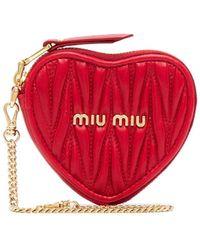 Miu Miu Стеганый Кошелек С Цепочкой - Красный