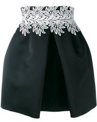 Sara Battaglia - Leaf Detail Front Pleat Skirt - Lyst