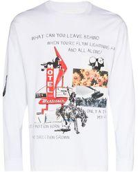 Neighborhood Scrapbook Print Long-sleeve T-shirt - White