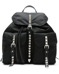 Prada - All Designer Products - Studded Backpack - Lyst