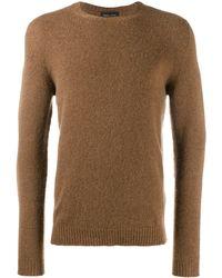 Roberto Collina Sweatshirt mit Rundhalsausschnitt - Braun