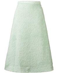 Rochas - Textured Skirt - Lyst