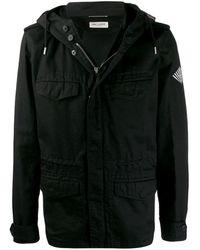 Saint Laurent - Куртка На Молнии С Капюшоном - Lyst