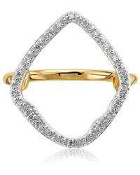 Monica Vinader Riva Hoop Ring - Metallic