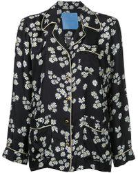 Macgraw He Loves Me Pajama Shirt - Black