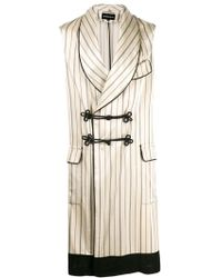 Ann Demeulemeester - Striped Sleeveless Coat - Lyst