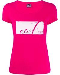 EA7 ロゴ Tシャツ - ピンク