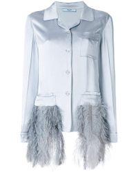 Prada Tailored Metallic Evening Suit - Blue