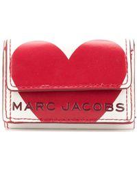 Marc Jacobs Portemonnee Met Logo - Wit