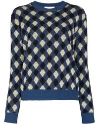 Wales Bonner Williams Crew-neck Sweater - Blue