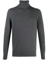 Drumohr タートルネック セーター - グレー