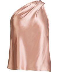 Michelle Mason ワンショルダー シルクトップ - ピンク