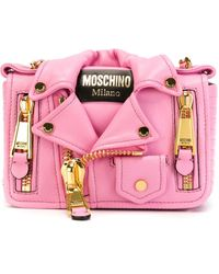 Moschino Biker Cross Body Bag - Pink