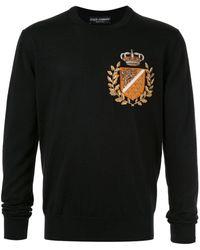 Dolce & Gabbana Trui Met Geborduurd Logo - Zwart