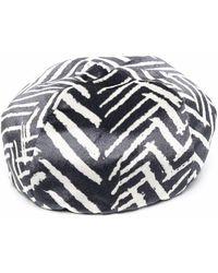 Emporio Armani シェブロン ベレー帽 - ブラック