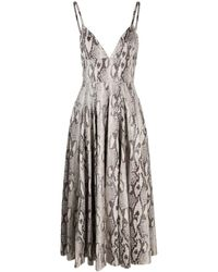 MSGM - スネークプリント ドレス - Lyst