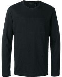 Helmut Lang ロゴ ロングtシャツ - ブラック
