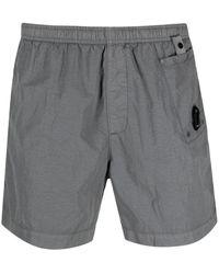 C.P. Company Logo Swim Shorts - Grey