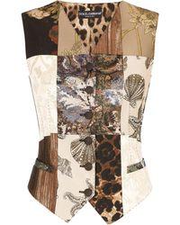 Dolce & Gabbana Weste mit Print - Braun
