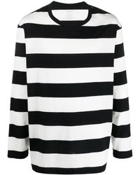 Yohji Yamamoto T-shirt a righe - Bianco