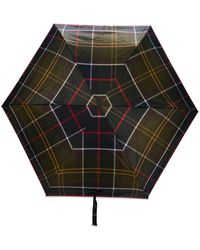 Barbour Small Tartan-print Umbrella - Green