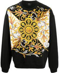 Versace バロッコプリント スウェットシャツ - ブラック