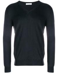Cruciani - V-neck Knit Sweater - Lyst