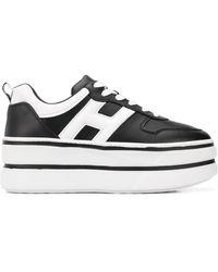 Hogan Sneakers Met Plateauzool - Zwart