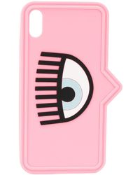 Chiara Ferragni Eye Print Iphone Xs Case - Pink