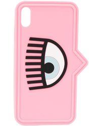 Chiara Ferragni IPhone XS-Hülle mit Print - Pink