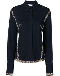 Victoria Beckham Camisa con ribetes en contraste - Azul