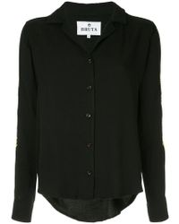 Bruta - Embroidered Sleeves Shirt - Lyst