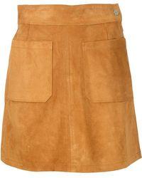 FRAME - Suede Mini Skirt - Lyst