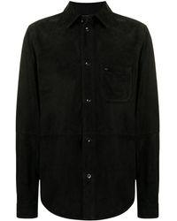Stefano Ricci Chest Patch-pocket Shirt Jacket - Black
