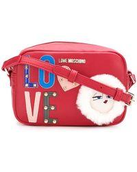 Love Moschino - Embellished Logo Crossbody Bag - Lyst