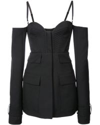 Vera Wang - Spaghetting Strapped Long Sleeeved Jacket - Lyst