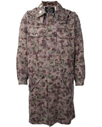 Icons - Camouflage Print Coat - Lyst