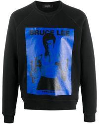 DSquared² - Bruce Lee Print Sweatshirt - Lyst
