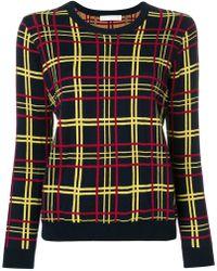 Peter Jensen - Check Print Sweater - Lyst