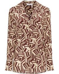 Chloé Рубашка С Геометрическим Принтом - Коричневый