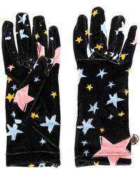Boutique Moschino Star Gloves - Black