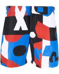 Orlebar Brown Geometric-print Swim Shorts - Blue