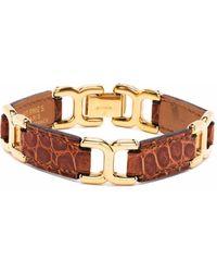 Hermès Bracelet en cuir et laiton pre-owned (années 2000) - Marron