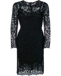 Dolce & Gabbana - Приталенное Кружевное Платье - Lyst