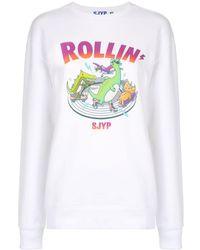 SJYP Rollin プリント スウェットシャツ - ホワイト