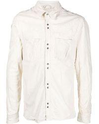 Giorgio Brato Distressed Leather Shirt - White